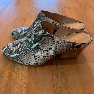 Halogen Shoes - Halogen Brielle Snake Skine Mule Sz 6.5 NIB